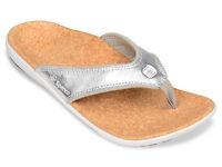 Spenco Women's PolySorb Yumi Orthotic Thong Sandals - Metallic Silver