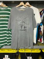 Mens XL Gothic Guardian 1993 Gray Distressed Gargoyle Graphic Shirt VTG