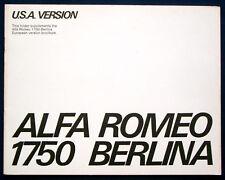 Prospekt brochure Alfa Romeo 1750 Berlina Supplement (USA, 1970)