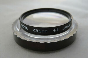 43.5mm Hoya Close Up +3 Filter - Very Rare In This Size