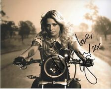 GIN WIGMORE SIGNED ON MOTORCYCLE VERY SEXY 8X10