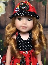 American Girl Wellie Wishers Clothes Custom Sundress & Hat Mary Engelbreit Print