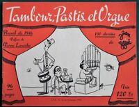 Tambour, Pastis et Orgue by Jean Effel 1946 French Political Satire Cartoons