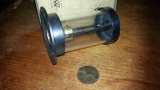 Heavy Brass Cylinder Light Lamp Industrial Warehouse Garage Steampunk NOS
