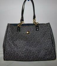 NWT Women's Tommy Hilfiger Purse/Bag~BLACK/GRAY TH~OS