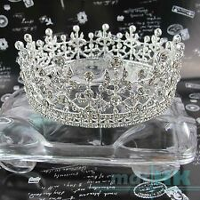 4.5cm Wedding Bridal Party Pageant Prom High Full Crystal Luxury Tiara Crown