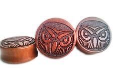Wood Ear Plug owl Plugs Tunnels Gauge 12mm - 28mm Pair or single big sizes x 2