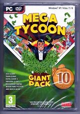 Mega Tycoon Compilation, Includes 10 PC Games New & Sealed  STOCKING STUFFERS