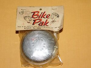 VINTAGE BIKE PAK BEACON ELECTRIC BICYCLE HORN NEW IN PACKAGE NOS