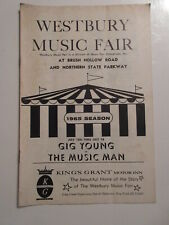1965 The Music Man WESTBURY MUSIC FAIR Gigi Young PLAYBILL PROGRAM