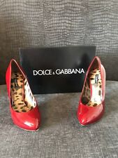 Dolce & Gabbana Dark Red Court Shoes Uk 7 Worn Once.