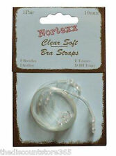 Nortexx Clear Soft Adjustable Bra Straps Invisible Soft See Through Transparent