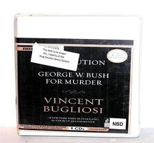 BOOK/AUDIOBOOK CD Vincent Bugliosi THE PROSECUTION OF GEORGE BUSH FOR MURDER