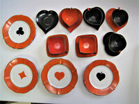 Vintage Poker Suit Theme Cup Saucer And Plate Set MADE IN CZECHOSLOVAKIA