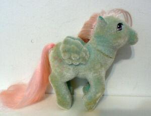 Vintage 1980s G1 My Little Pony So Soft WIND WHISTLER Pegasus Flocked Fuzzy