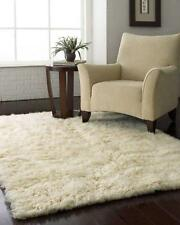 NATURAL IVORY FLOKATI WOOL FLOOR RUG SHAGGY HAND MADE 120*180cm **NEW**