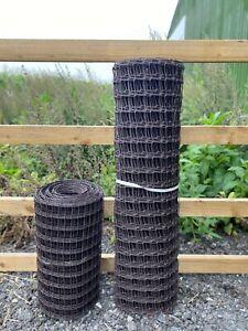 Plastic Fence BROWN or GREEN Mesh - Garden Border Netting Climbing Plant Trellis