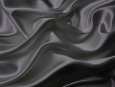 California King Bed Sheet Set Royal Opulence Gray Satin Silk Soft Bedding 4pc