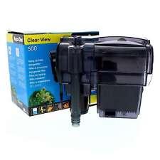 500 Clearview Hang On Filter 500L/Hr 29028 Fish Tank Aquarium Aqua One