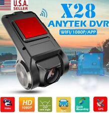 New listing Fhd 1080P 150° Dash Cam Car Dvr Camera Recorder WiFi Adas G-sensor X28 Usa