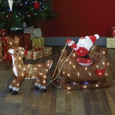 Acrylic Santa With Sled LED Christmas Indoor/Outdoor Garden Decoration xmas 2020