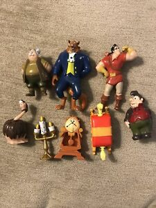 Disney Beauty & The Beast Bundle Of Mini Figures / Cake Toppers X 8