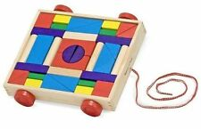 Unit Blocks Cart  36 Blocks  Push and Pull Toys by Melissa & Doug New