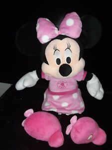 "Hallmark Disney Tickle Me Minnie Mouse Singing 16"" Plush Sings Hot Diggity Dog"