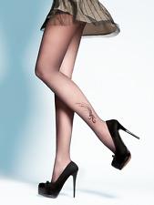Collant voile Fantaisie Femme Tatouage 20 den Gabriella Polina T2 T3 T4 Noir 3