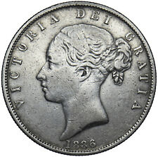 More details for 1886 halfcrown - victoria british silver coin - nice