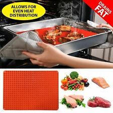 Pyramid Pan Silicone baking Tray Cooking Mat Non Stick Fat Reducing Oven