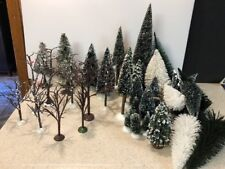 HUGE Lot of 49 DEPT 56 Bare Branch Trees Snowy Evergreen Pine Trees Lemax