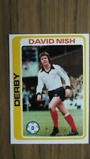 David Nish Derby County   #249 Topps Gum Footballers Pale Blue Back 1979