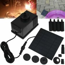 Solar Powered Fountain Submersible Water Pump With Filter Panel Pond Pool 180L/h