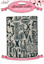 Ultimate Crafts Embossing Folders Typography New