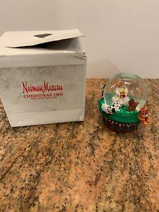 Dept 56 Neiman Marcus 1995 Musical Snow Globe Christmas Angel K Stribling