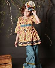 EUC! Matilda Jane Girls You and Me Lovely West Peasant Top Shirt 10  HTF