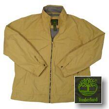 TIMBERLAND Men's XL Khaki Tan Long Jacket Cotton & Nylon Zipper Front Lined