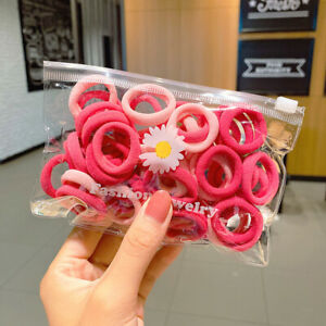 50Pcs/Set Women Girls Nylon Elastic Hair Bands Hairband Headwear Ponytail Holder