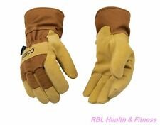 KINCO 1958 Pigskin Leather Mens Work Gloves Waterproof Winter Lined Construction