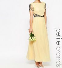 Maya Petite Cap Sleeve Maxi Dress With Embellished Waist Detail - UK 6