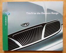 DAEWOO Range orig 1999 UK Mkt sales brochure - Matiz Lanos Nubira Leganza Musso