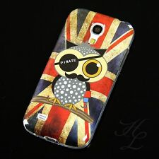 Samsung Galaxy S4 mini i9195 étui en silicone Drapeau UK Hibou Pirate Chouette