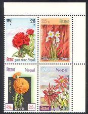 Nepal 1969 Narcissus/Marigold/Poinsettia/Flowers/Plants/Nature 4v blk (n38794)