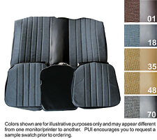 1981 CHEVY CAMARO STANDARD CLOTH REAR SEAT COVER  5 COLORS AVAILABLE