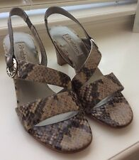 Brighton Rivoli Made In Italy Slingback Sandals Heals Nude Beige Brown New $210