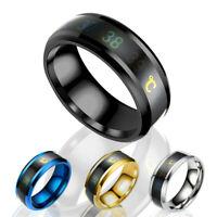 Smart Temperature Measurement Ring Magic Thermometer Display Mood Rings Hot