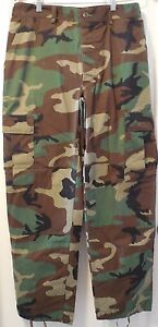BDU Woodland Camouflage Pants Military Issue Uniform Item Small Medium Large