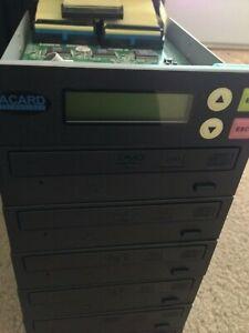 Acard 1 to 5 20X DVD CD Duplicator Burner Multiple Disc ACARD-DVR-115DBK