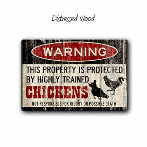 Funny Metal Chicken Sign, Homestead, farm Sign, Warning Sign